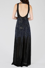 Wow Couture Rhinestones Maxi Dress - Front full body
