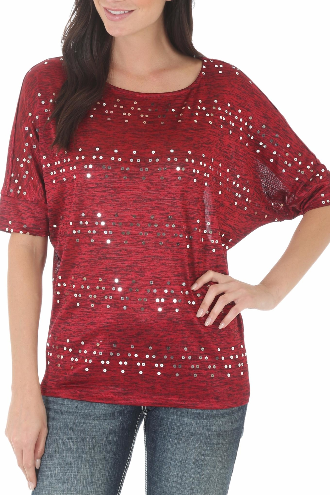 Wrangler Dolman Sleeve Top - Front Cropped Image