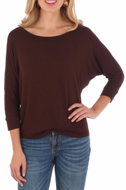 Wrangler Dolman Sleeve Tunic - Front cropped