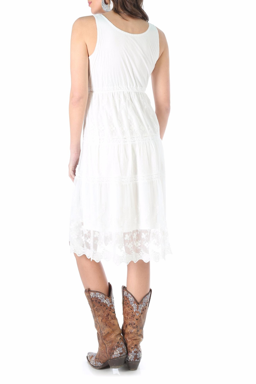 Wrangler Embroidered Lace Dress - Front Full Image