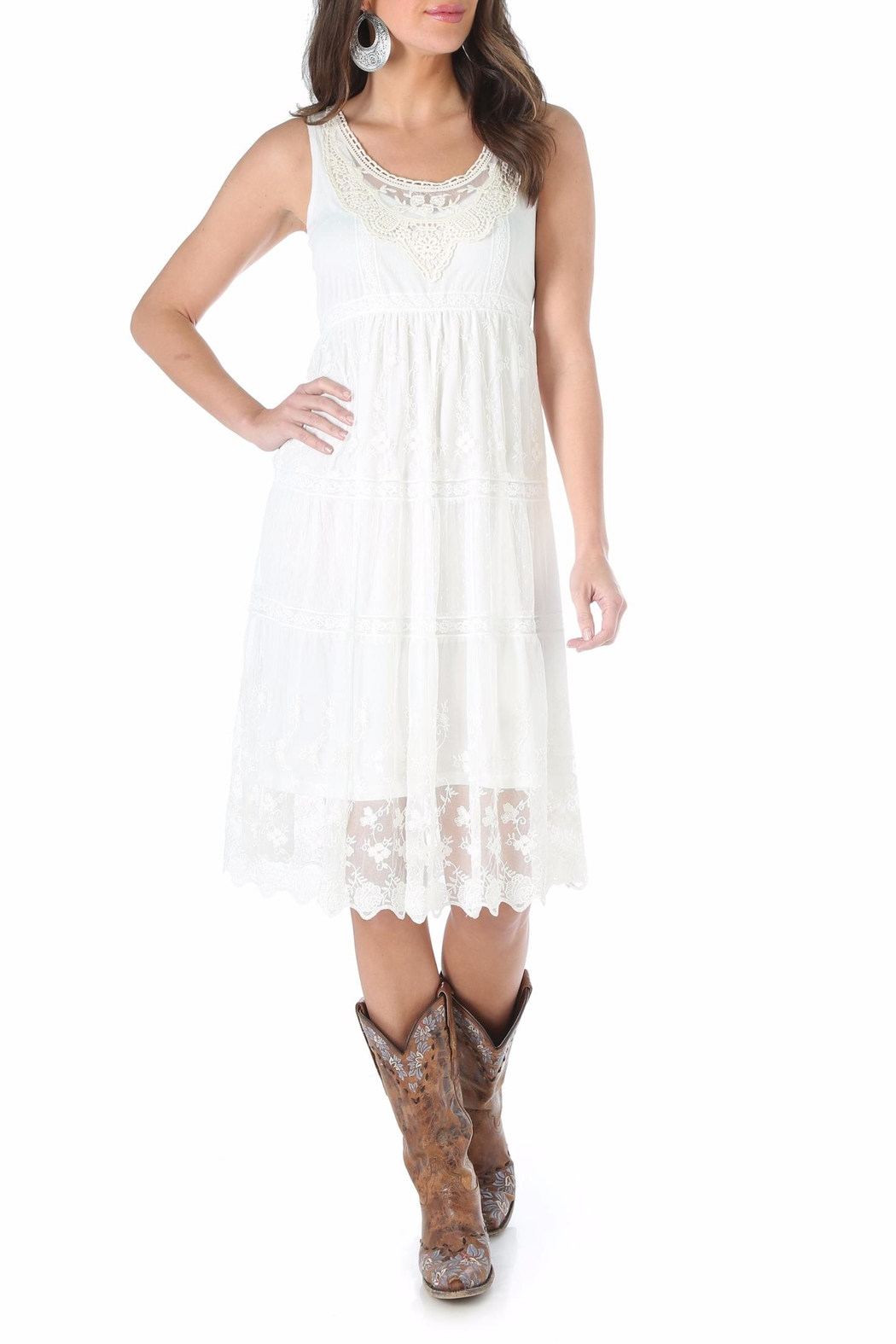 Wrangler Embroidered Lace Dress - Main Image