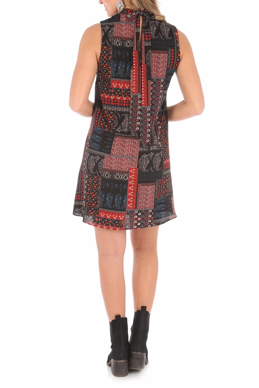 Wrangler High Collared Dress - Side Cropped Image