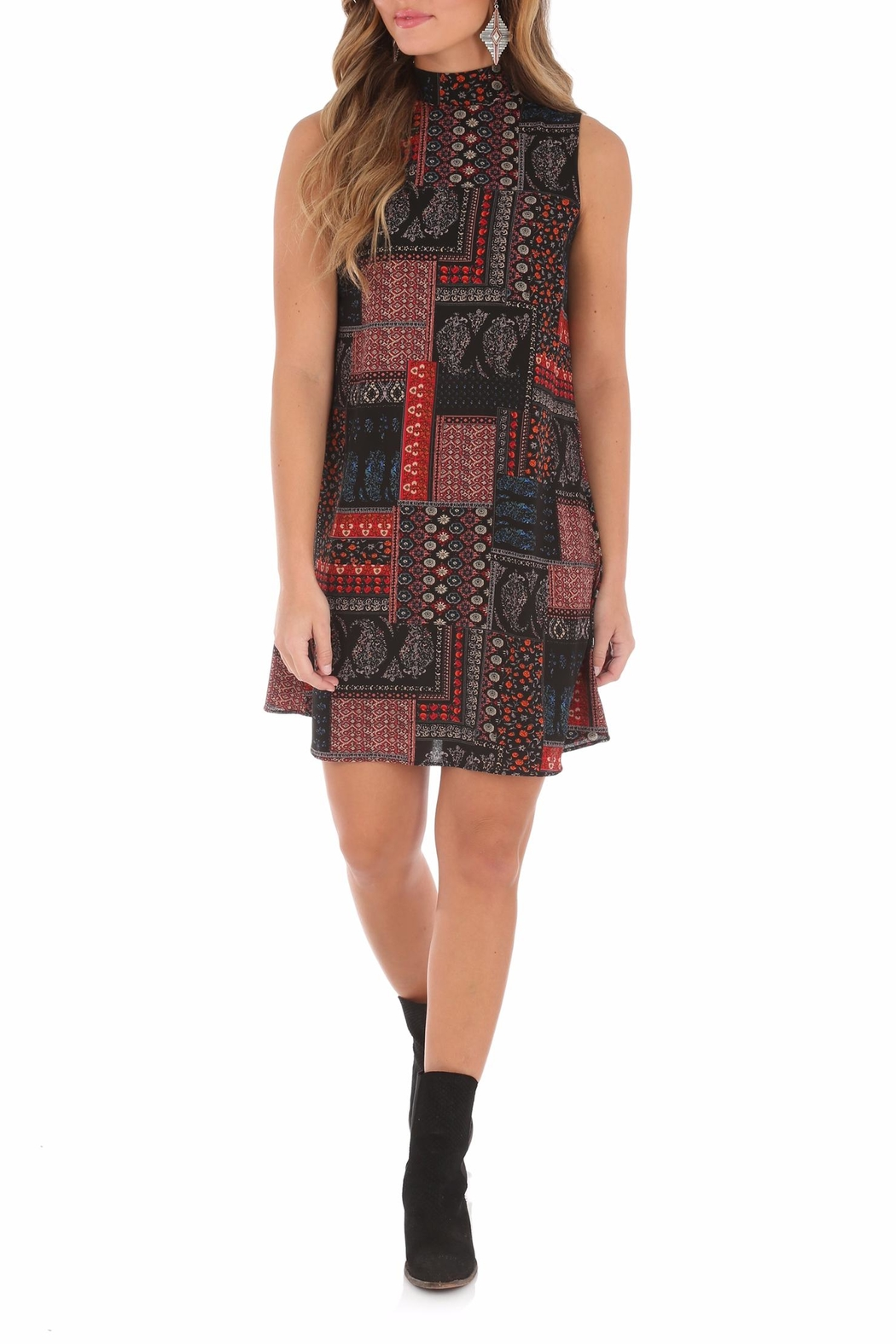 Wrangler High Collared Dress - Front Cropped Image