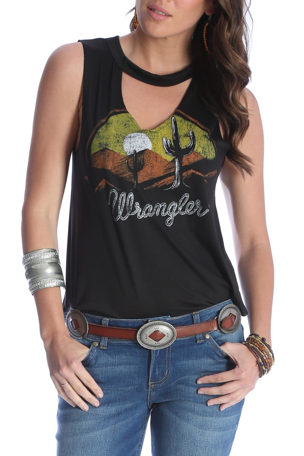 Wrangler Western Fashion Tank - Front Cropped Image
