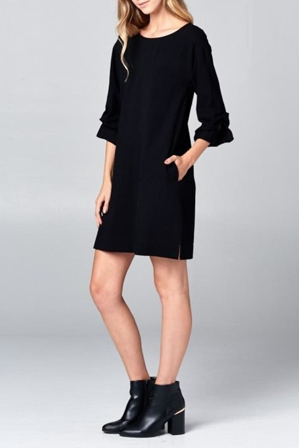 Ellison Wrap Arm Dress - Back Cropped Image