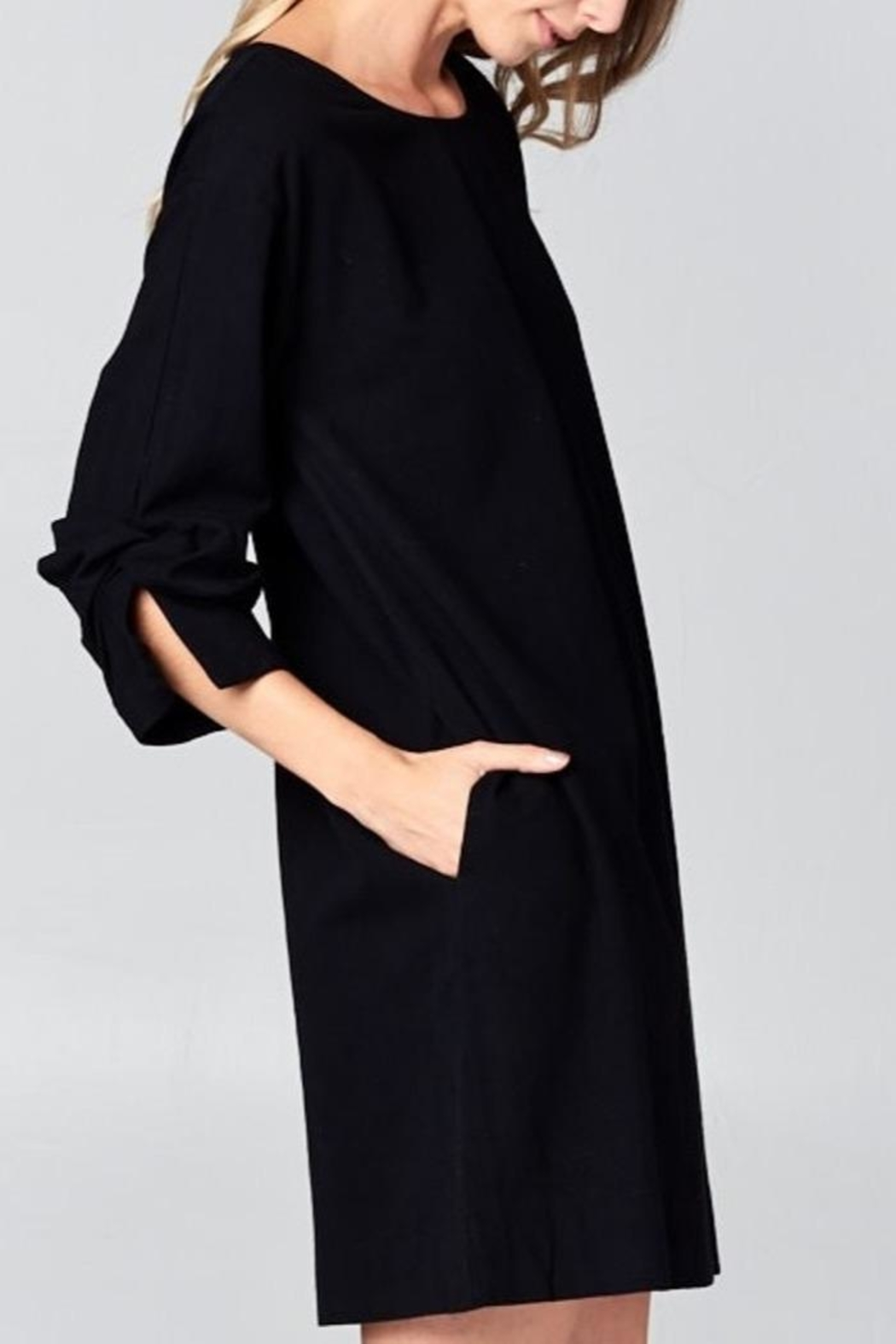 Ellison Wrap Arm Dress - Side Cropped Image