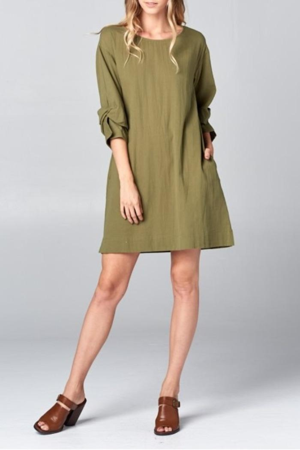 Ellison Wrap Arm Dress - Front Cropped Image