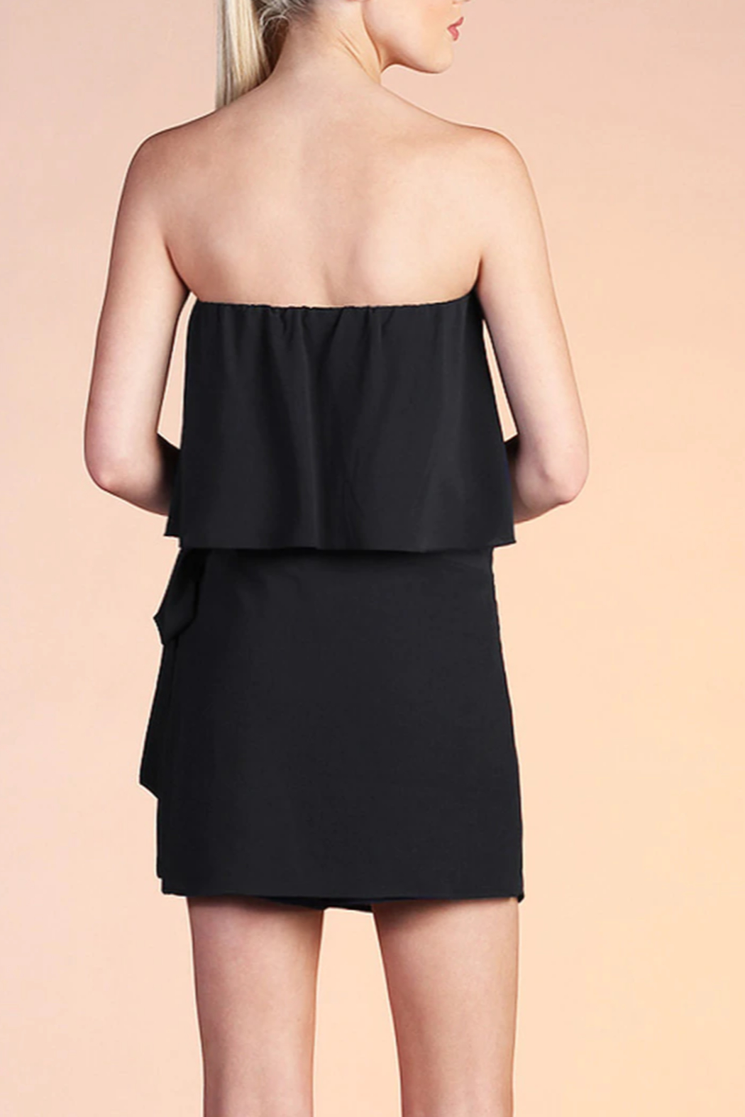 Tyche Wrap Around Romper - Side Cropped Image