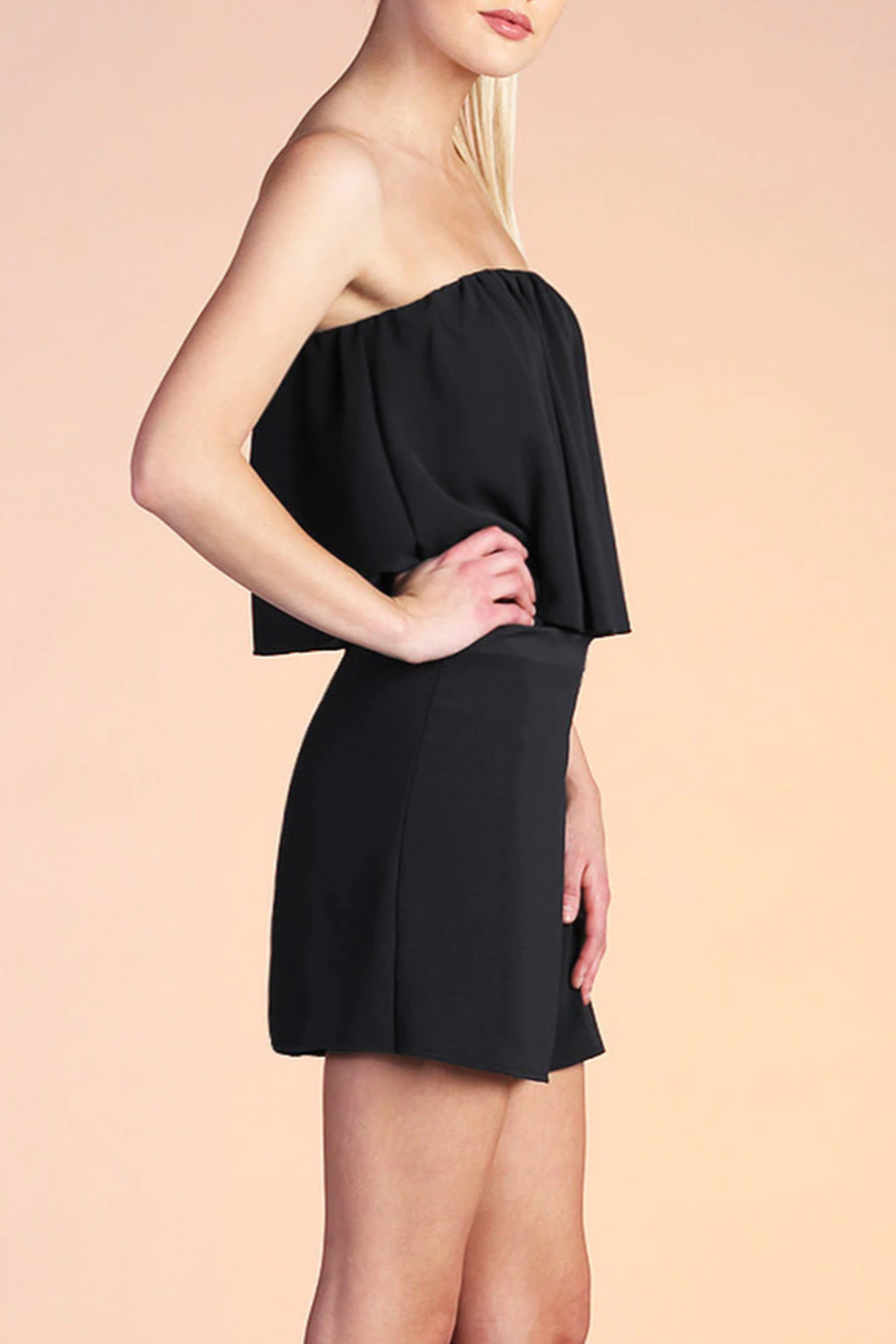 Tyche Wrap Around Romper - Front Full Image