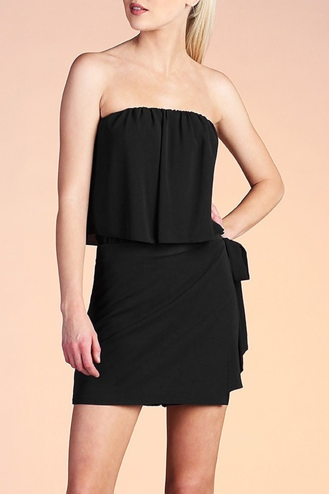 Tyche Wrap Around Romper - Front Cropped Image