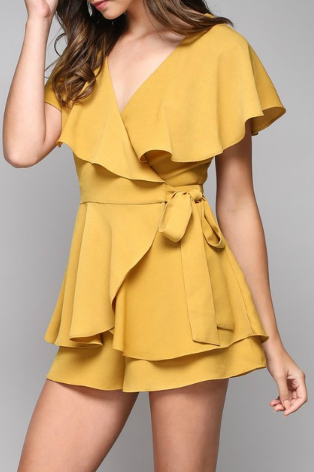 Do & Be Wrap Around Romper - Front Full Image