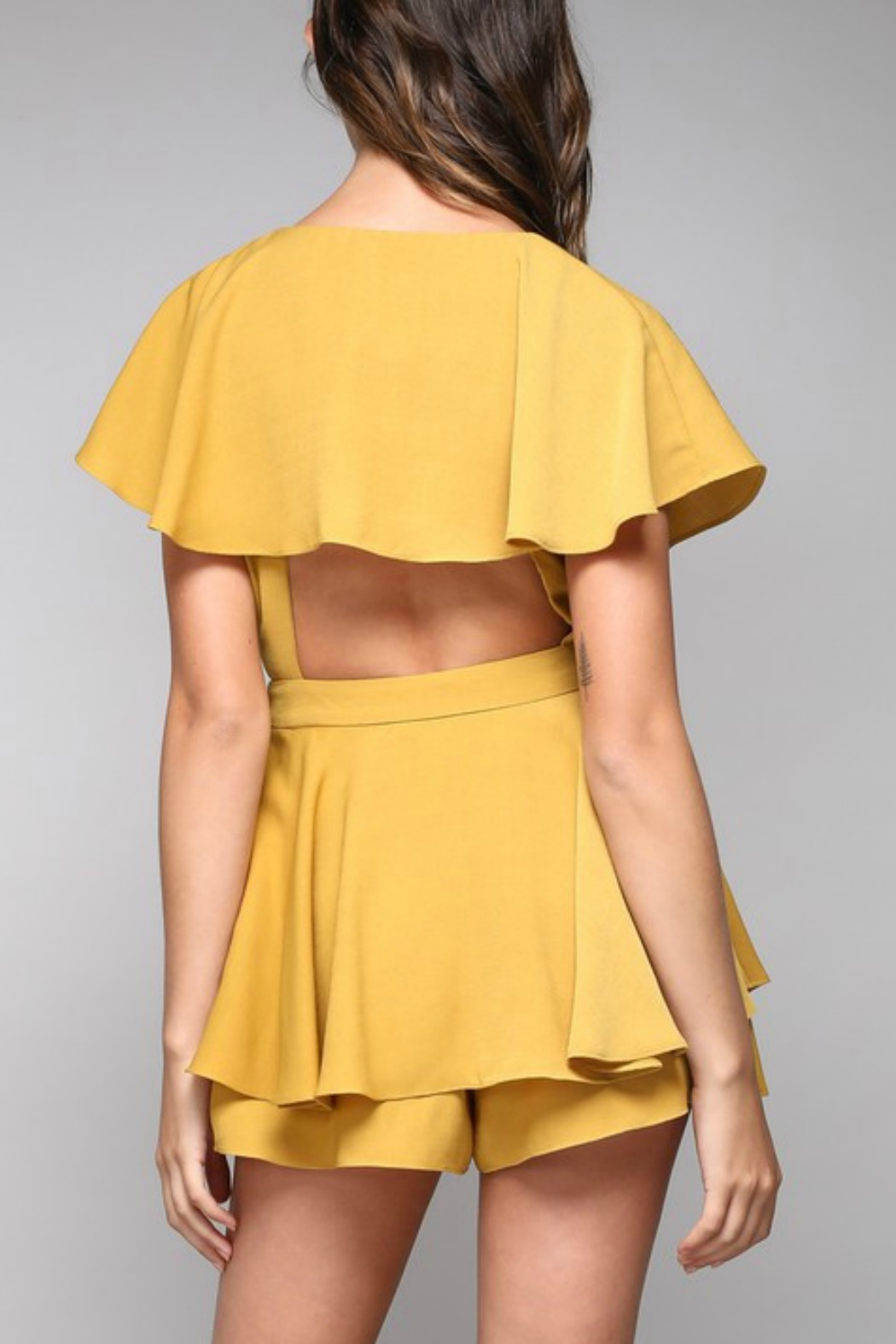 Do & Be Wrap Around Romper - Side Cropped Image