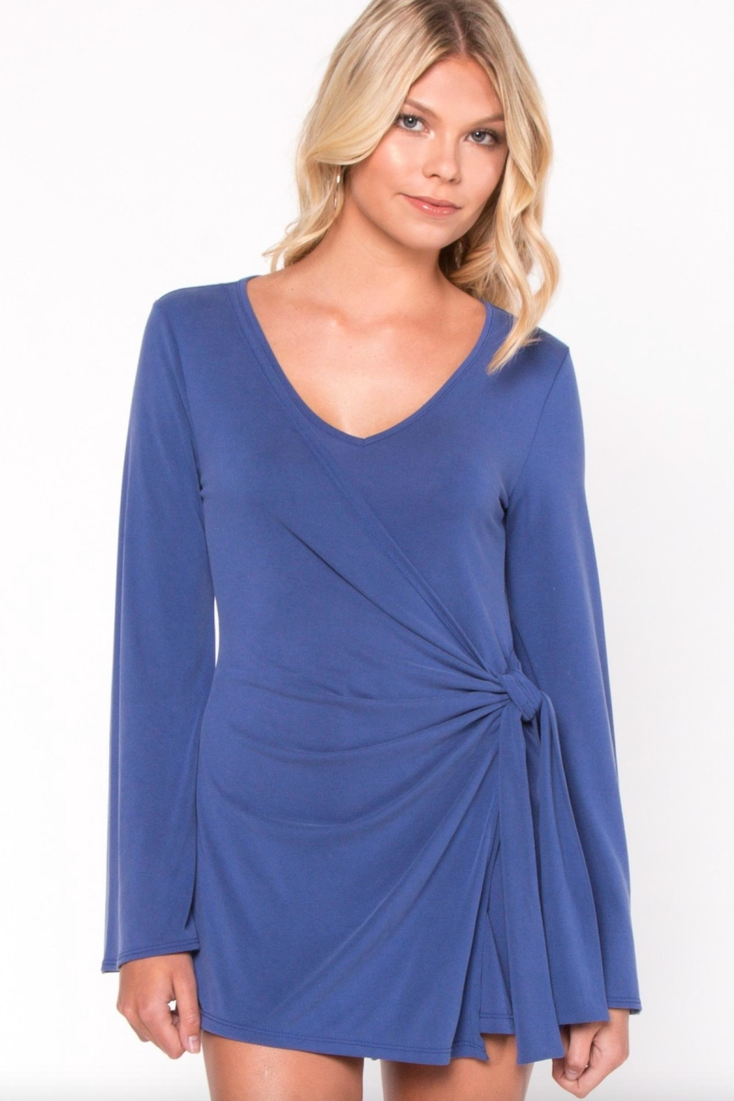 Everly Wrap Around Romper - Front Full Image