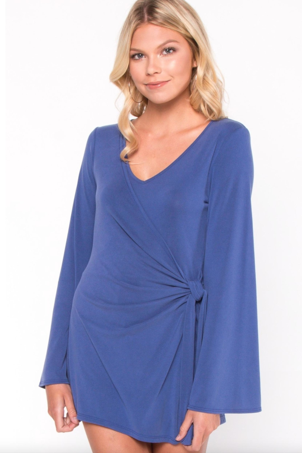 Everly Wrap Around Romper - Side Cropped Image