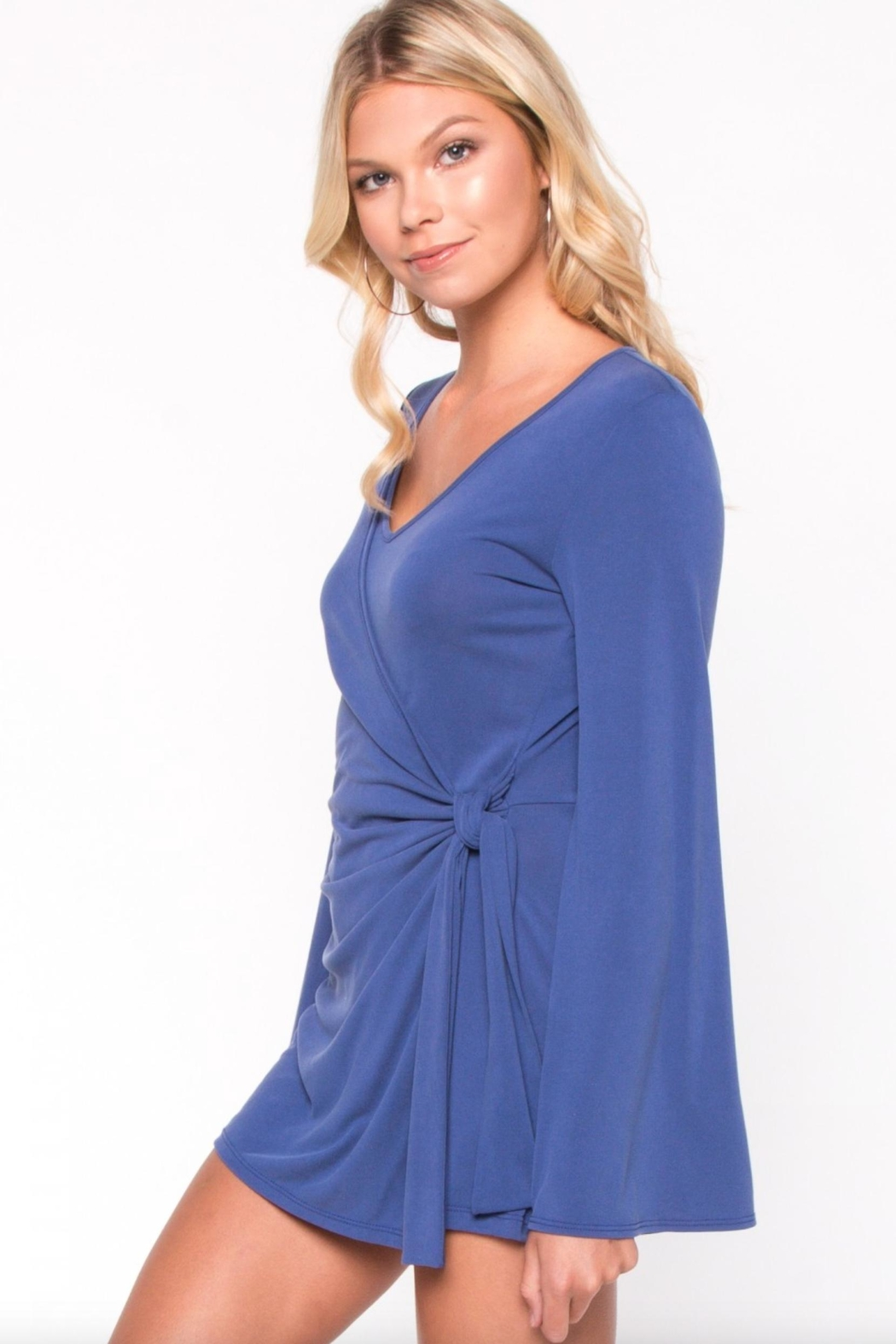 Everly Wrap Around Romper - Back Cropped Image