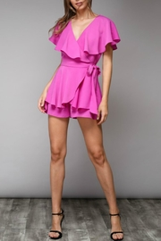 Do & Be Wrap Around Romper - Back cropped