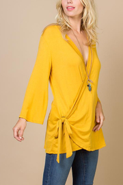 Lyn-Maree's  Wrap Bell Sleeve Blouse - Product Mini Image