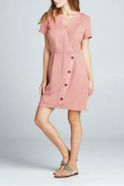 Sinuous Wrap ButtonDown Dress - Product Mini Image