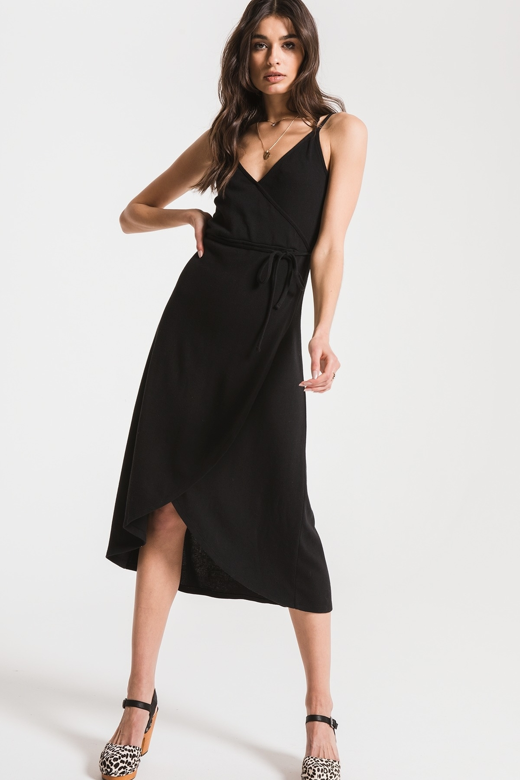 z supply Wrap Capri Dress - Front Cropped Image