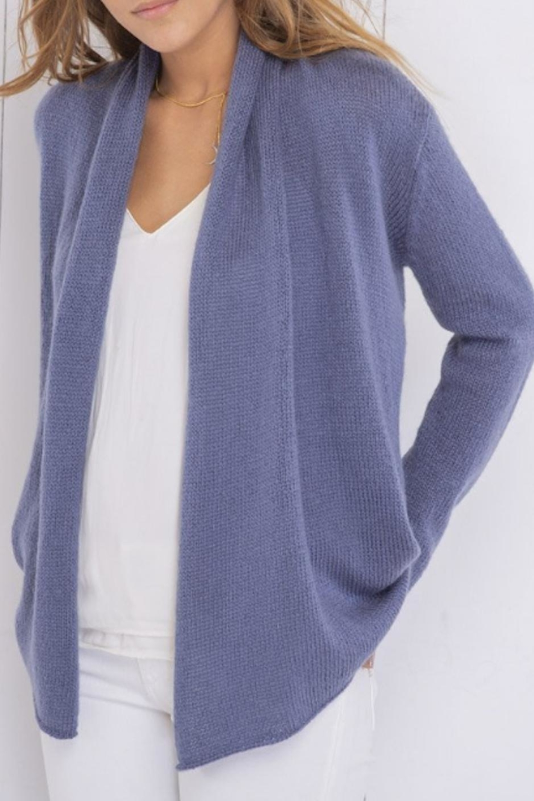 Wooden Ships Wrap Cardigan Lightweight - Front Cropped Image