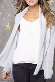 Wooden Ships Wrap Cardigan Lightweight - Side cropped