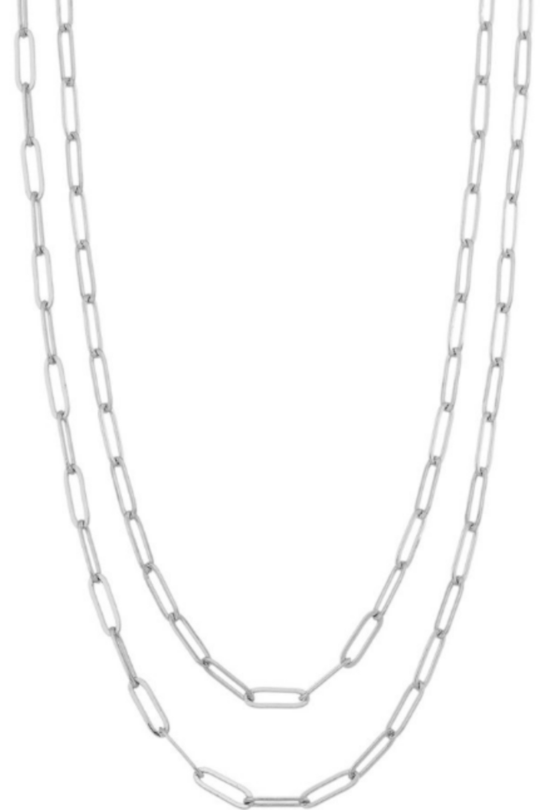 Girly Wrap Chain Link Necklace - Front Cropped Image