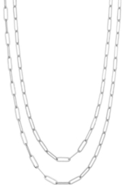 Girly Wrap Chain Link Necklace - Front cropped