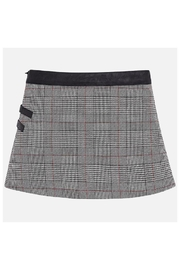 Mayoral Wrap Checked Skirt - Front full body