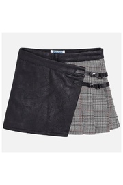 Mayoral Wrap Checked Skirt - Front cropped