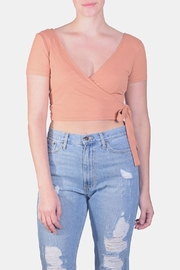 Miss Love Wrap Crop Top - Product Mini Image