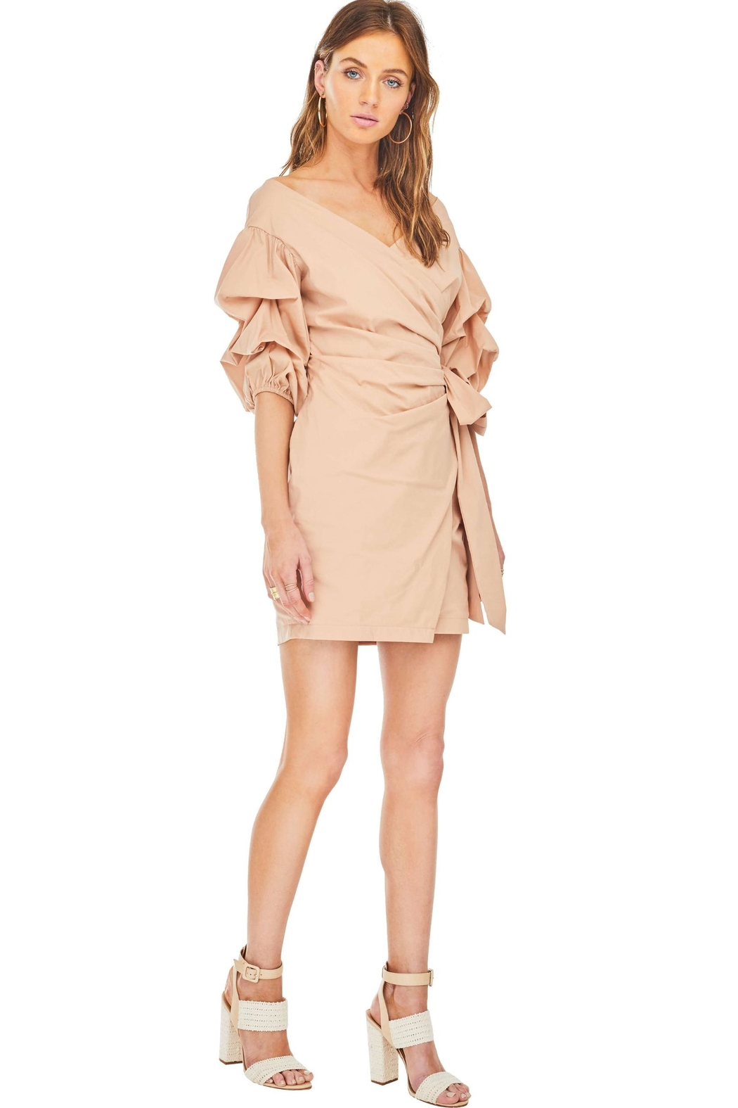 ASTR Wrap Dress - Front Full Image