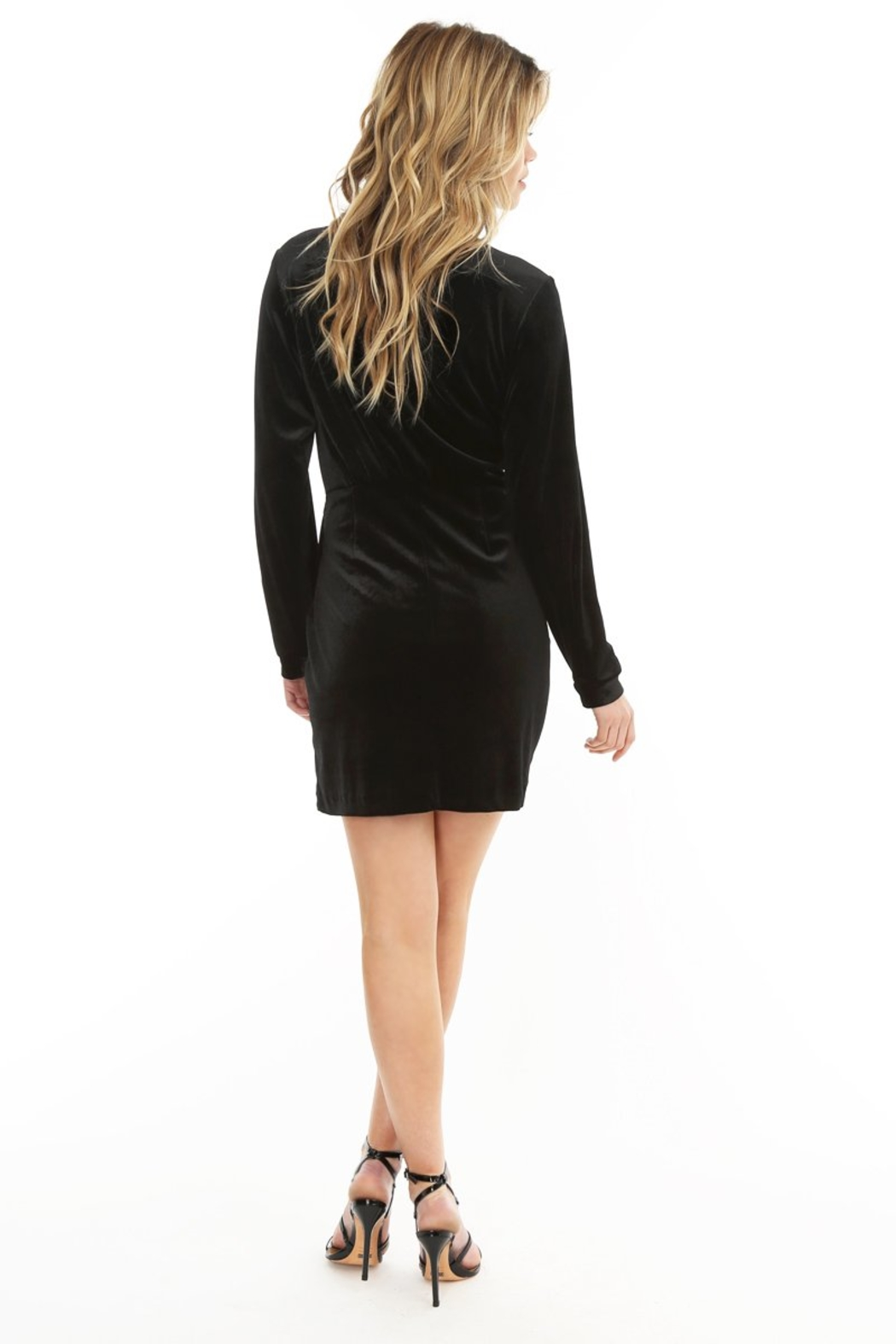 Bobi Los Angeles Wrap Dress - Front Full Image