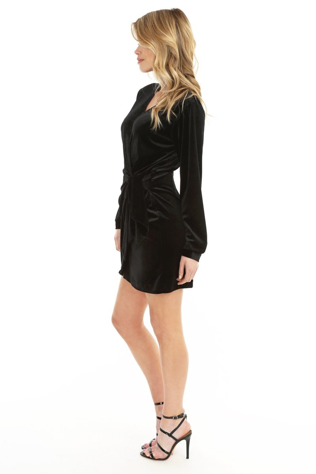 Bobi Los Angeles Wrap Dress - Side Cropped Image