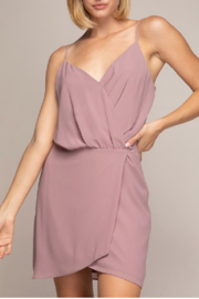 Naked Zebra Wrap Dress With Button Closure - Product Mini Image