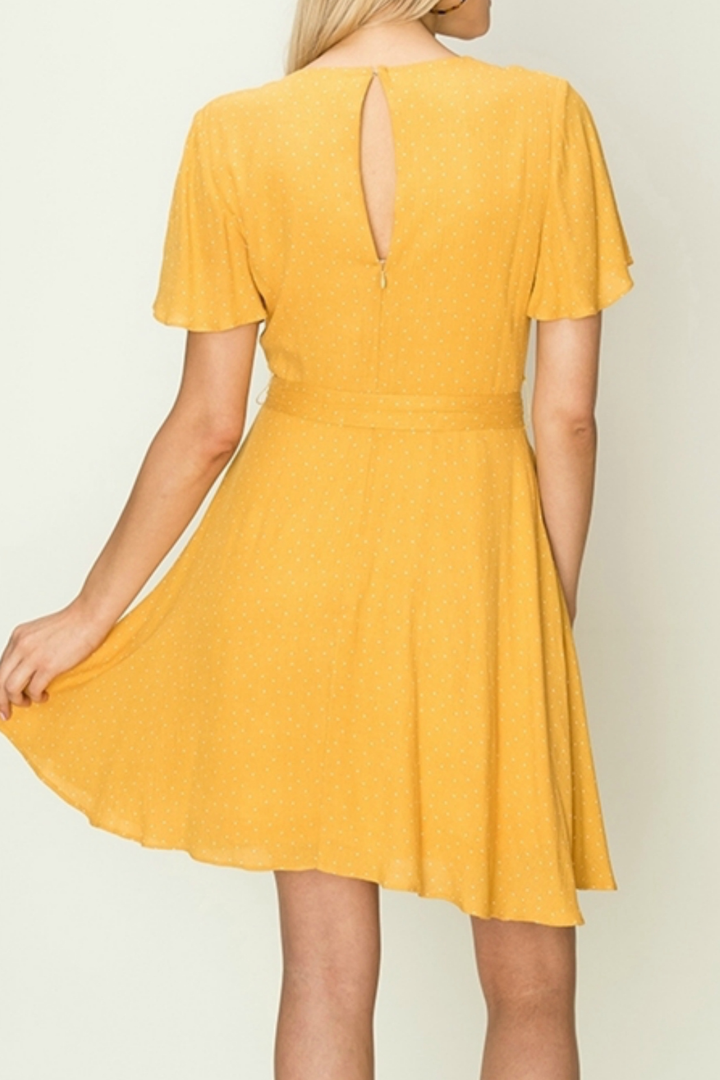 HYFVE Wrap dress with waist tie - Front Full Image