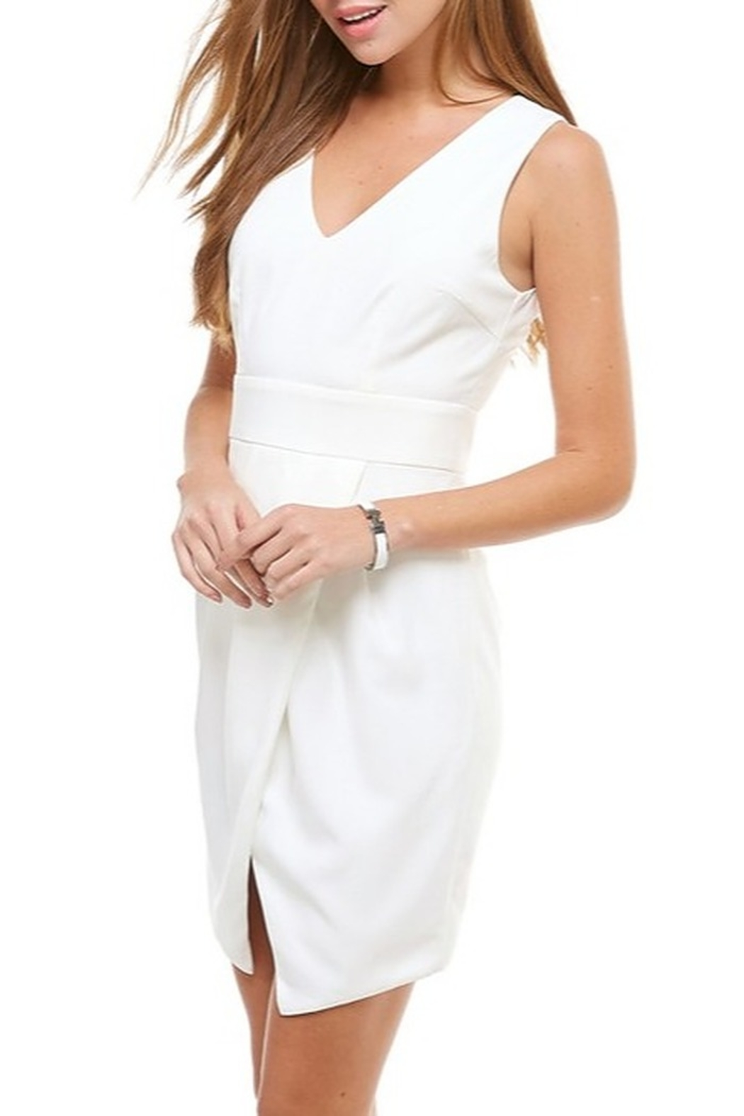 TCEC Wrap Front Dress - Front Full Image