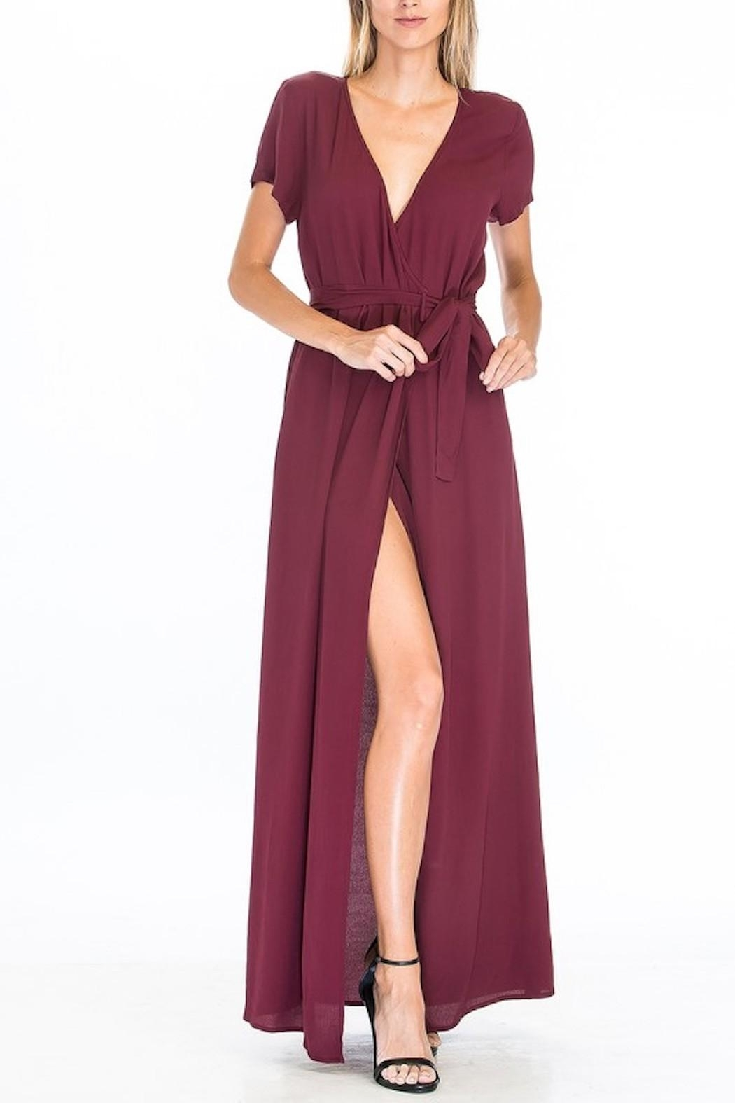 Olivaceous Wrap Front Maxi - Front Cropped Image