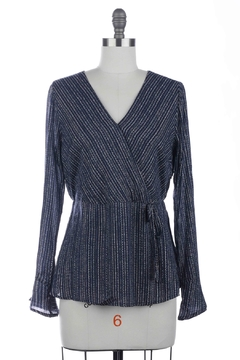 Skies Are Blue Wrap-Front Print Blouse - Product List Image