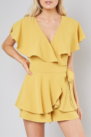 Do & Be Wrap Front Romper - Product Mini Image