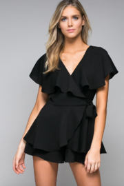 Do & Be Wrap Front Ruffle Romper - Product Mini Image