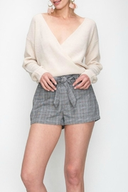 Favlux Wrap Front Sweater - Product Mini Image