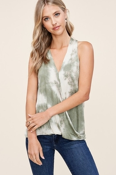 Staccato Wrap Front Tie Dye Top - Product List Image