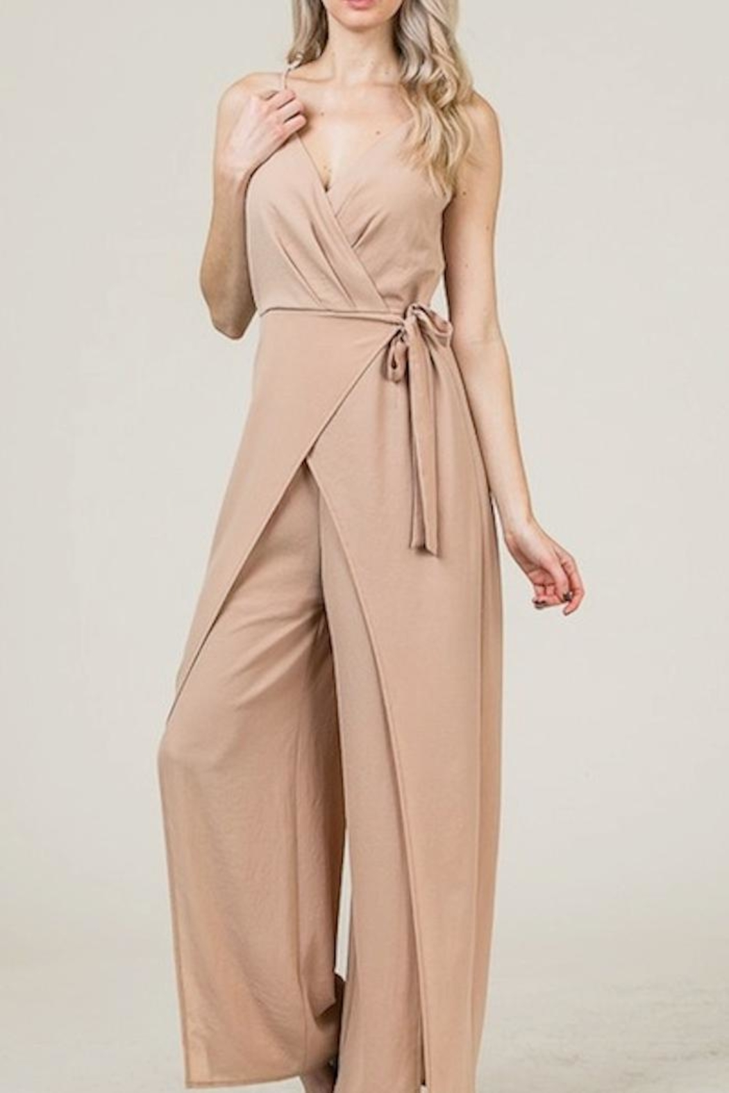 Yipsy Wrap Jumpsuit - Side Cropped Image