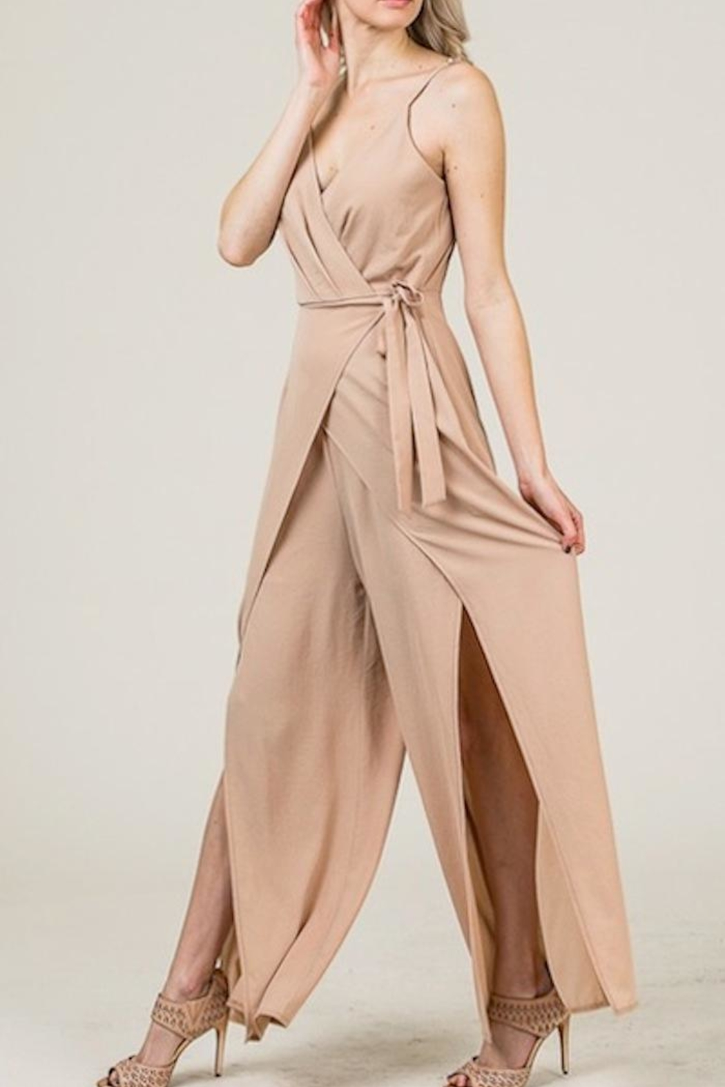 Yipsy Wrap Jumpsuit - Front Full Image