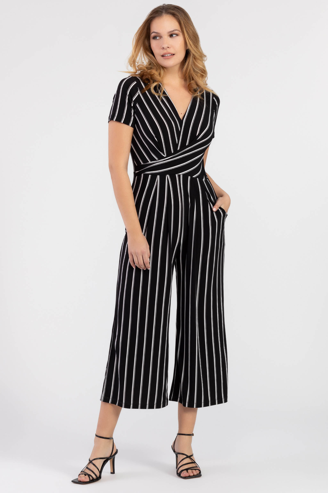 Tribal Wrap Jumpsuit - Front Cropped Image