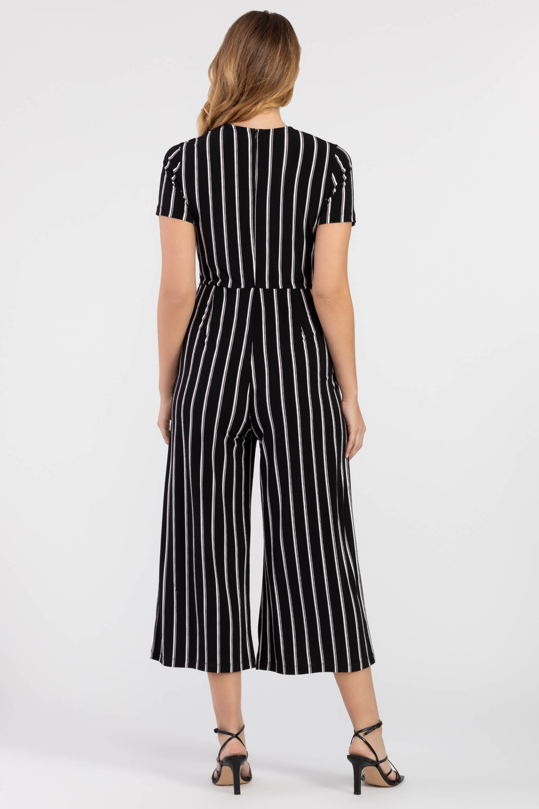 Tribal Wrap Jumpsuit - Front Full Image