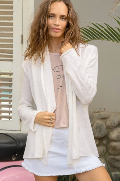 Wooden Ships Wrap Lightweight Cardigan - Product List Image