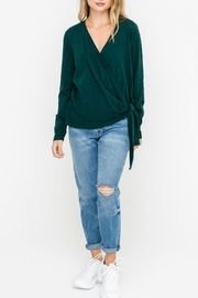 Lush Wrap-Longsleeve Top, Pine - Front cropped