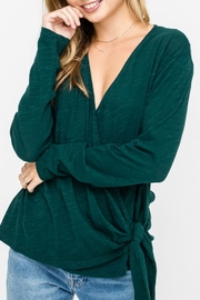 Lush Wrap-Longsleeve Top, Pine - Side cropped