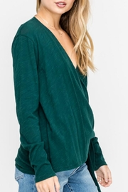 Lush Wrap-Longsleeve Top, Pine - Back cropped